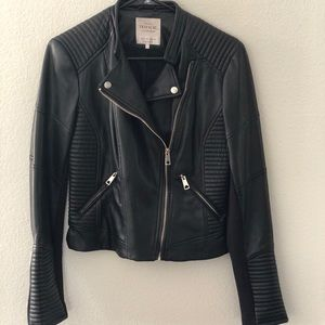Zara Trafaluc Leather Moro Jacket